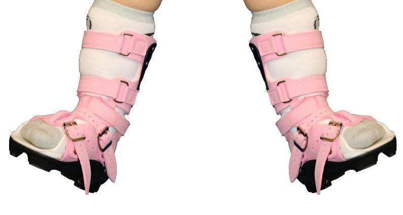 Pair of Abduction Dorsiflexion Mechanisms with ADM Sandals (Non-Ambulatory, not be used for walking)